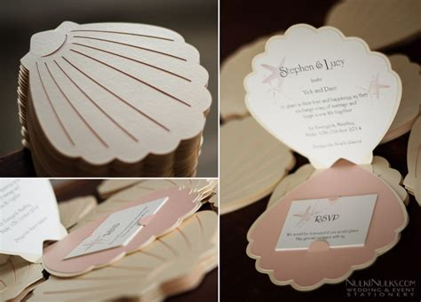 shell shaped pop up card template sea shell themed wedding invitations and accessories