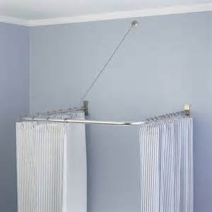 u shaped shower curtain rod contemporary shower