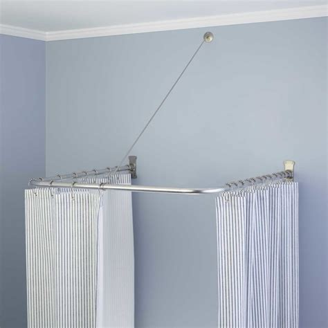 u shaped curtain pole u shaped shower curtain rod contemporary shower