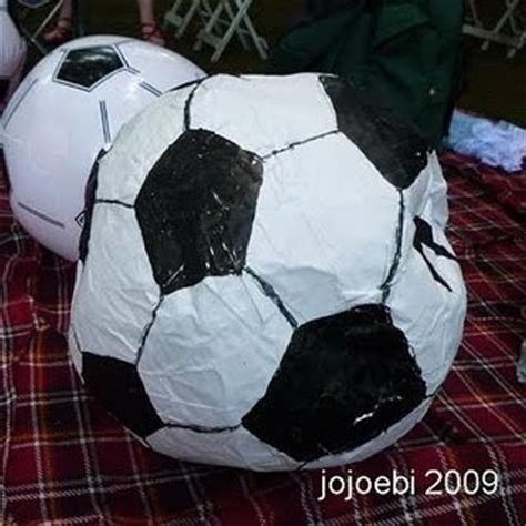 How To Make A Paper Mache Football - soccer soccer and paper mache on