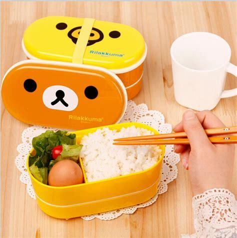 Box Bento Microwave 1 Wrna Promosi sell microwave rilakkuma bento multilayer children lunch box brown yellow 00003