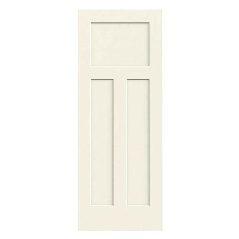 3 Panel Craftsman Interior Door Jeld Wen 24 In X 80 In Molded Smooth 3 Panel Craftsman Vanilla Hollow Composite