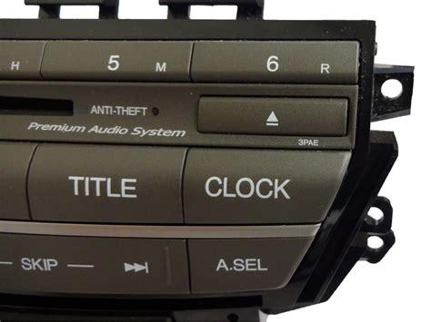 radio code for 2011 honda accord 08 09 2010 2011 2012 honda accord radio xm sat mp3 mp 3 6 disc cd player 3pae ebay