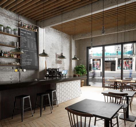 design en cafe break time caf 233 on behance