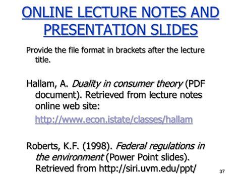 apa format lecture notes week4b pptslides apa referencing