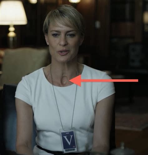 Whats The Deal With The Hole In Clair Underwoods Neck | what s the deal with the hole in clair underwood s neck