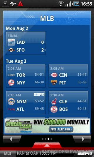 espn android app espn scorecenter free android app android freeware