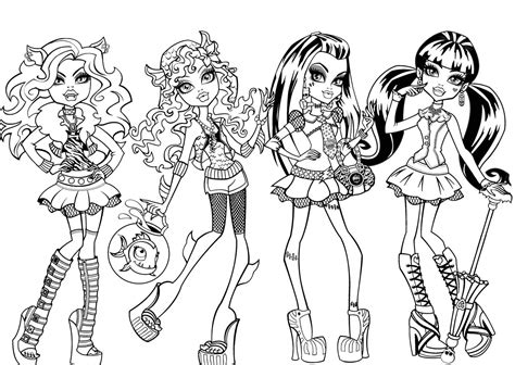 Monster High Coloring Pages Videos | free printable monster high coloring pages for kids