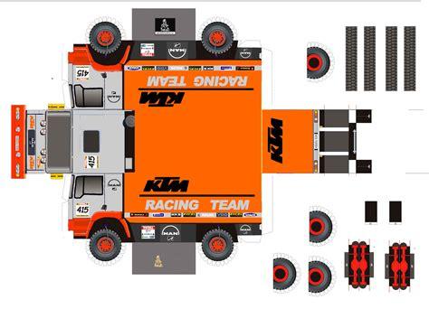 Truck Papercraft - ktm racing team race cars papercraft