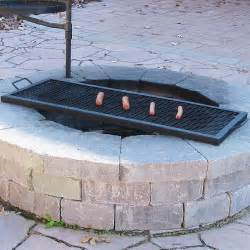 Fire pit cooking grill grate rectangular 36 quot