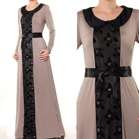 Baju Dress Rr716545 Dress Grey Collar 2610 grey jersey lace collar muslim abaya by missmode21 36 00 hijabis