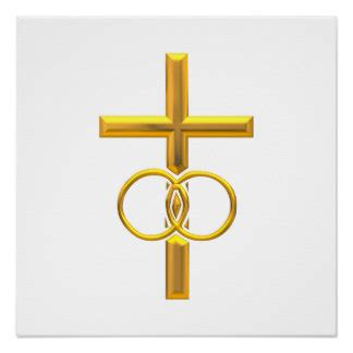 Wedding Rings With Crosses by Christian Wedding Posters Zazzle