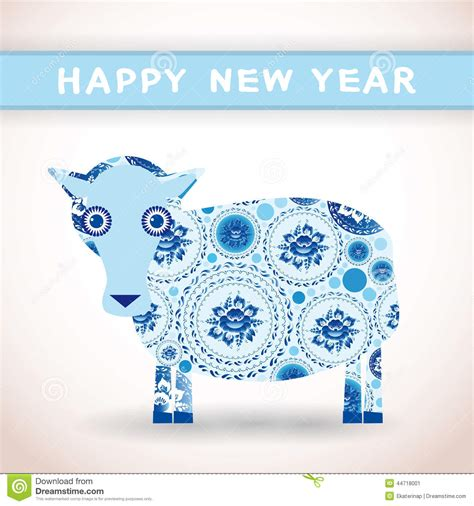 new year sheep facts 2015 new year card with blue sheep happy new year