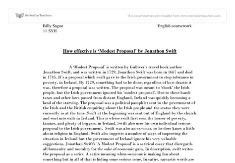 A Modest Essay Topics by How Effective Is Modest By Jonathon Gcse Marked By Teachers