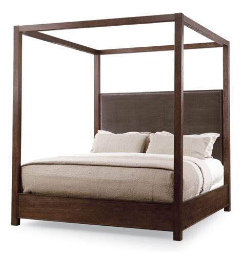 Upholstered Canopy Bed One Of Roy S Favorite Items Which We Installed This Beautiful Wooden Canopy Bed With