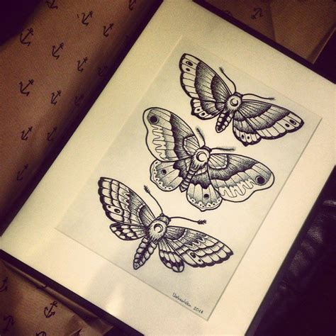 tattoo old school dotwork dotwork moths by zielonapepitka on deviantart