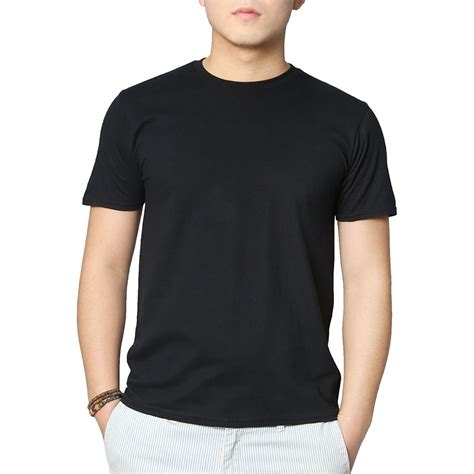 Kaos Hitam Muaythai plain black t shirt mens is shirt