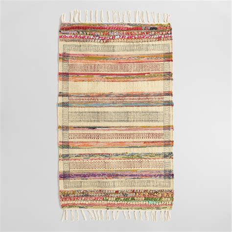 chindi rug world market 2 x3 block print jute chindi area rug world market