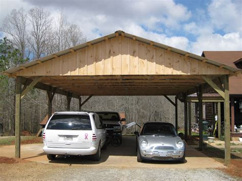 Pole Carport Kits pole barn roof only kit arbor wood products