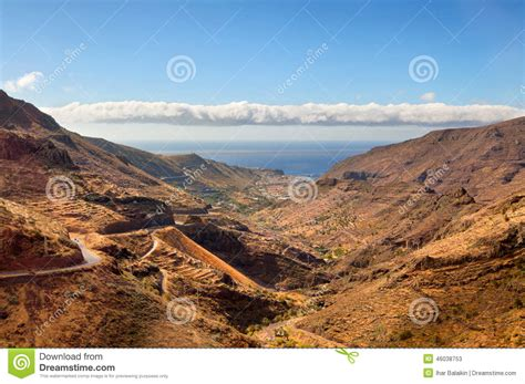 Houses Plan by Scenic Landscape Of Mountain Valley Stock Photo Image
