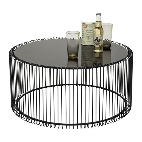 Table basse contemporaine noire   Wire   Kare Design