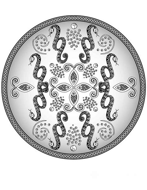 snake mandala coloring pages 93 best images about animal on sharks happy