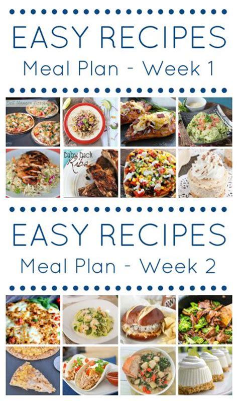 easy dinner menus for 4 the easy dinner recipes meal plan week 4 my suburban