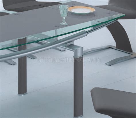 american eagle dining table 108dt 108ch dining table grey w glass top by american eagle