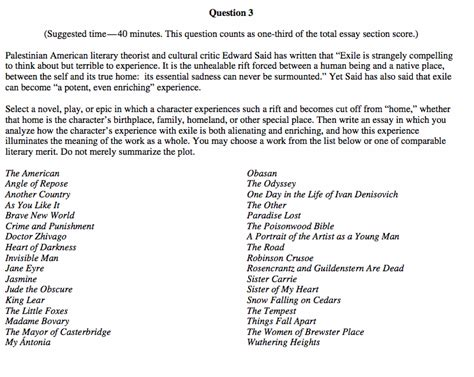 ap english language and composition section 1 answers ap english language and composition sle essays 2012