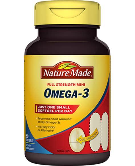 mini omega 3 supplement | nature made®