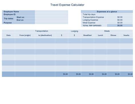 Budgets Office Com Travel Expense Log Template