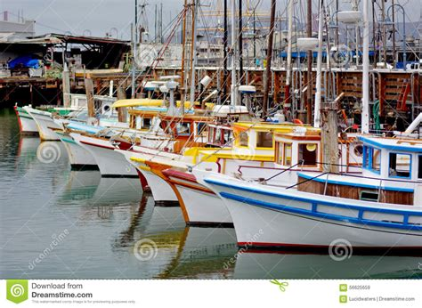 san francisco boat fishing boats in fisherman wharf san francisco stock photo
