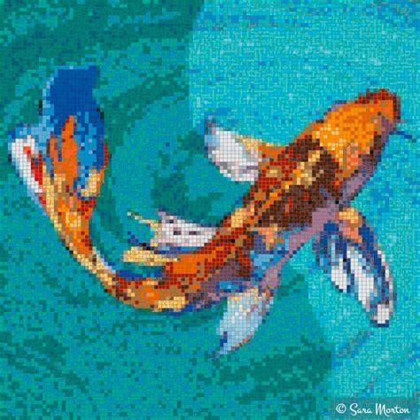 mosaic koi pattern koi fish mosaic pattern www pixshark com images
