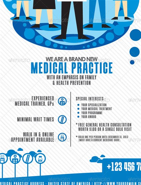 template flyer envato modern medical flyer print template by mousecow graphicriver