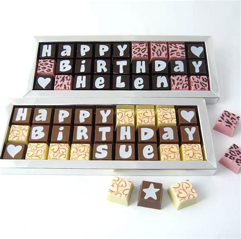personalised birthday chocolate box by chocolate by