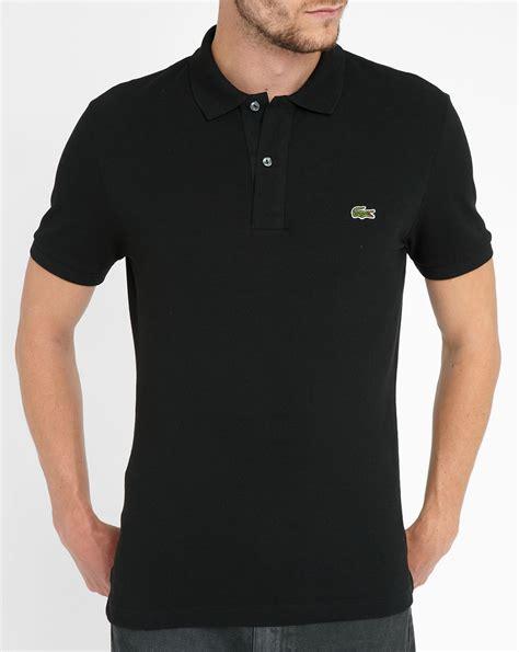 Sleeve Logo Polo Shirt lacoste black logo sleeve polo shirt in black for