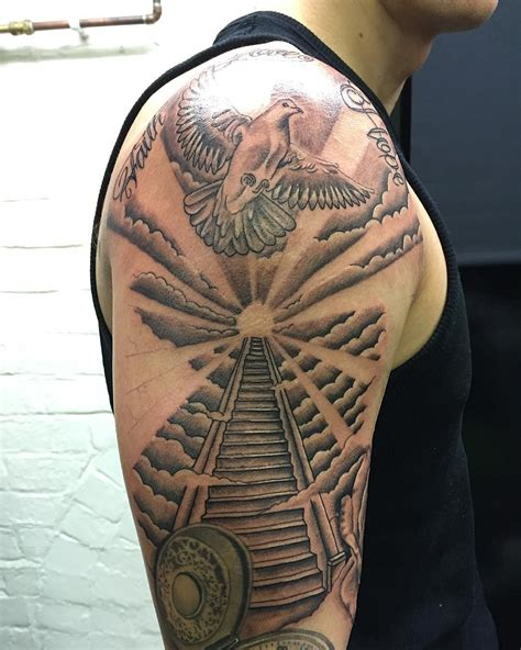 stairway tattoo designs to heaven sleeve stairway to heaven venice