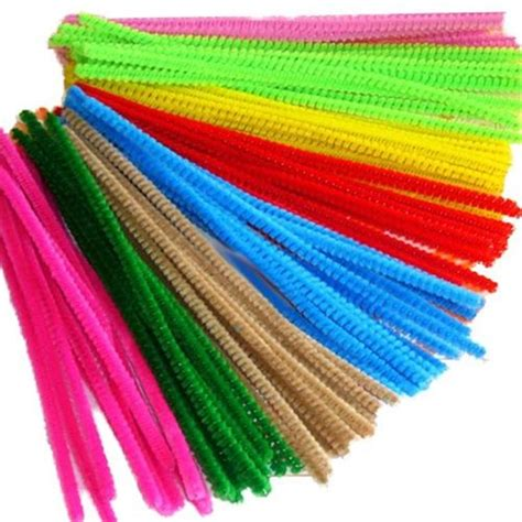 pipe cleaners and pack of coloured pipe cleaners 300mm