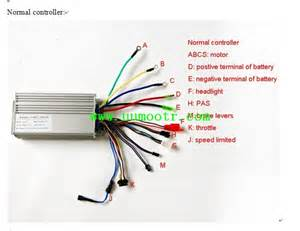 electric bike controller wires illustration with led