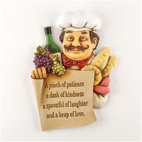 chef wall plaque sign pinch of patience bistro