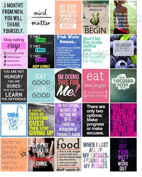 printable motivational stickers quotes stickers fitness and diet motivation stickers for life planners and