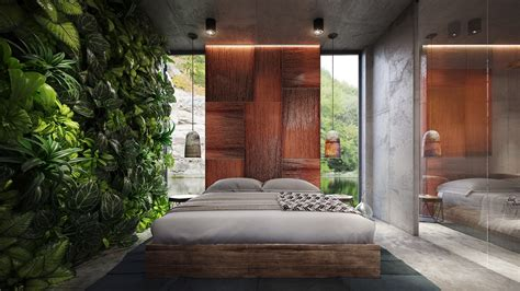 tropical bedrooms 4 homes using concrete as a stylish accent