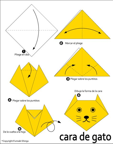 How To Fold An Origami Cat - easy cat origami 28 images origami cat ted s free