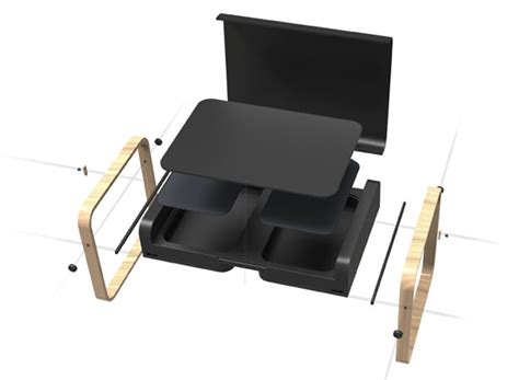 Portable Desk by Envol Portable Desk With A Substantial Storage Area By