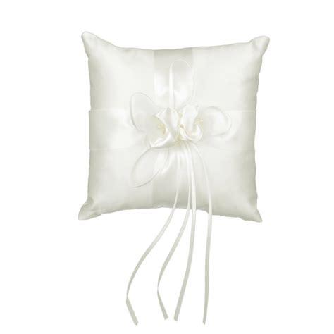 ribbon bud wedding ring pillow cushion bearer 20 x 20cm