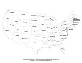 united states map test states and capitals printable states and capitals map united states map pdf