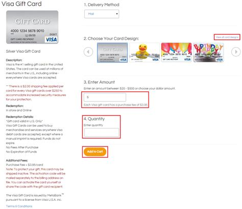 How To Shop Online With Visa Gift Card - how to order 500 visa gift cards from gift card mall