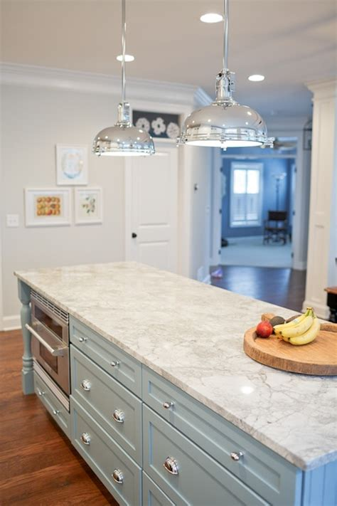 Ballard Design Furniture vermont white granite countertops transitional kitchen