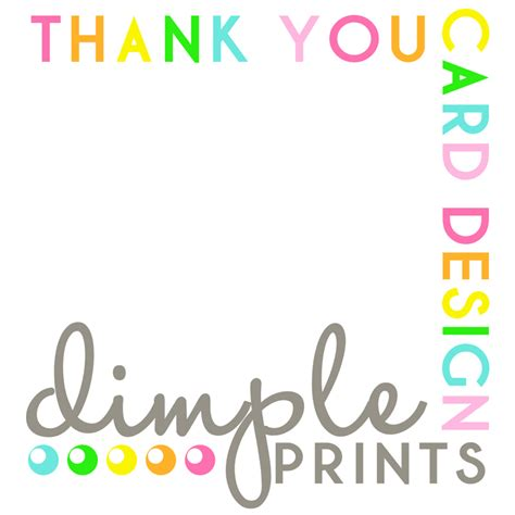 thank you card writing template 192 la carte made to match printable thank you card dimple