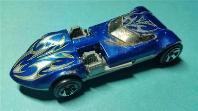Hotwheels Mill Thailand Track mill wheels 1969 blue with designs die cast